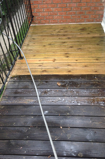 Deck Cleaning - Before